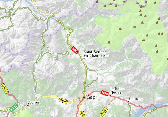 Carte-Plan Saint-Bonnet-en-Champsaur