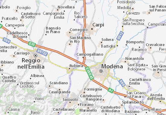Karte Stadtplan Campogalliano