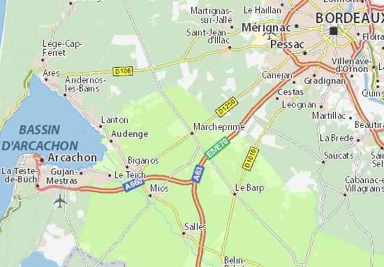 Marcheprime Map