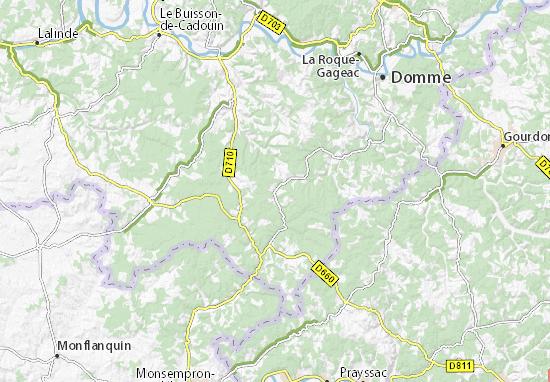 Michelin Prats Du Périgord Map Viamichelin