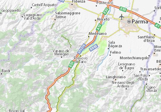 Mappa Fornovo Di Taro Cartina Fornovo Di Taro Viamichelin