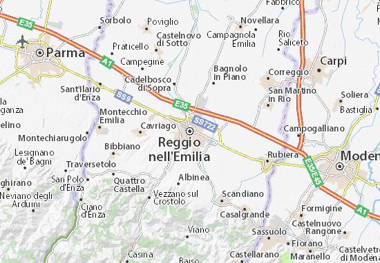 Carte-Plan Reggio nell'Emilia