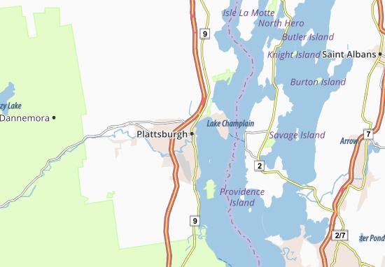 Plattsburgh Map