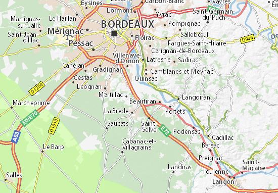 Saint-Médard-d'Eyrans Map