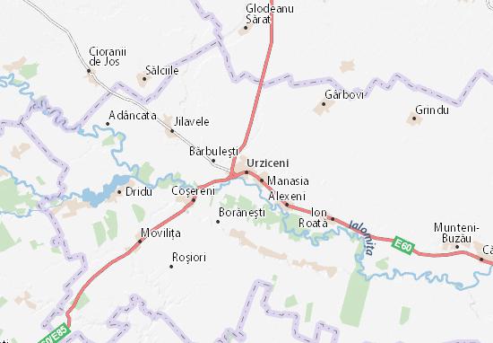 Kaart Plattegrond Urziceni