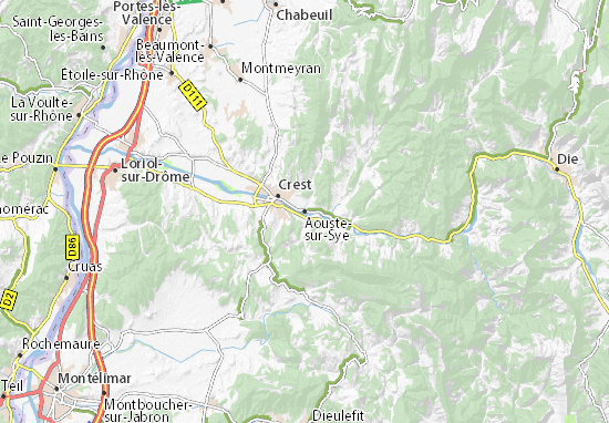Carte-Plan Aouste-sur-Sye