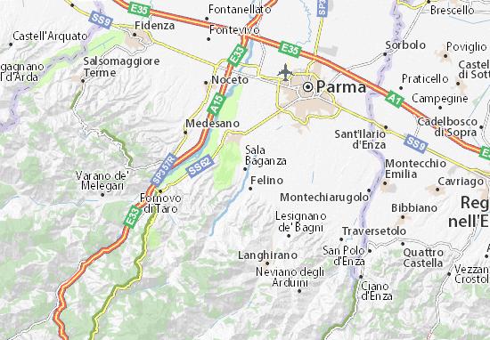 Sala Baganza Map