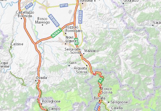 Karte Stadtplan Serravalle Scrivia