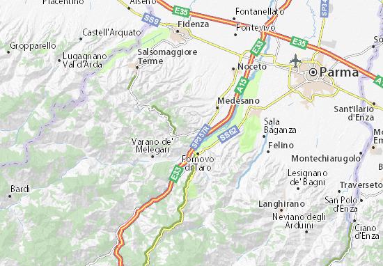 Mappa Sant\' Andrea Bagni - Cartina Sant\' Andrea Bagni ViaMichelin