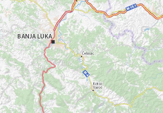 Mapa Plano Čelinac
