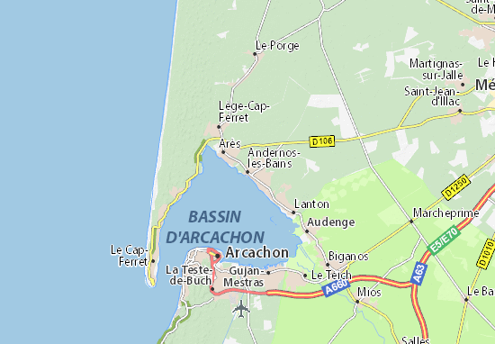 Andernos-les-Bains Map