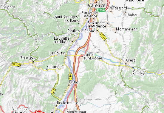 Carte-Plan Loriol-sur-Drôme
