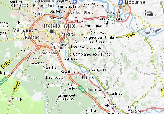 Carte Rocade Bordeaux.Carte Detaillee Saint Caprais De Bordeaux Plan Saint
