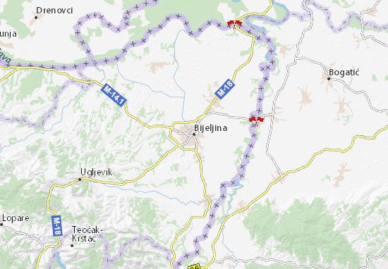 Bijeljina Map
