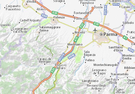 Karte Stadtplan Medesano