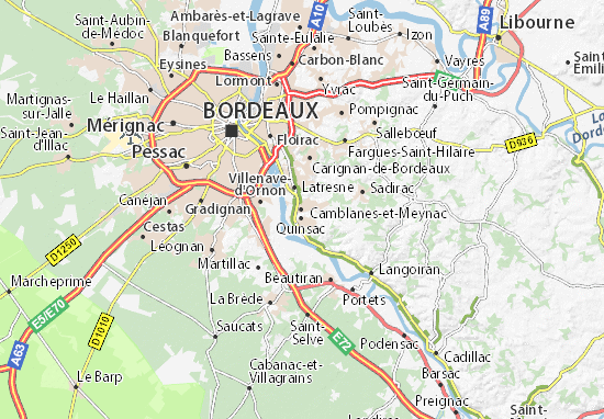 Camblanes-et-Meynac Map: Detailed maps for the city of Camblanes-et on