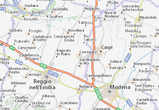 Correggio Map