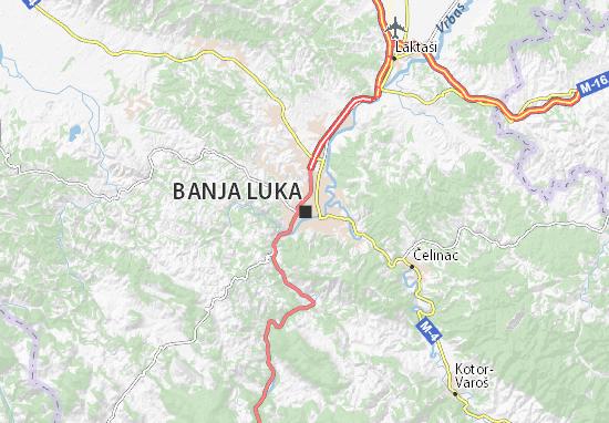 banja luka mapa Mapa Banja Luka   plano Banja Luka   ViaMichelin banja luka mapa