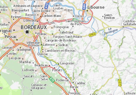 Créon Map