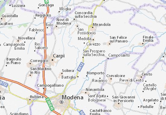 San Prospero sulla Secchia Map