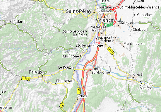 Carte-Plan La Voulte-sur-Rhône