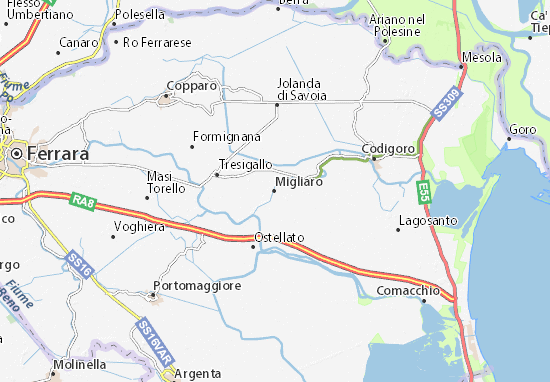 Karte Stadtplan Migliaro
