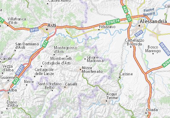 Karte Stadtplan Ghiare-Madonna