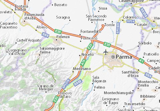 Karte Stadtplan Noceto