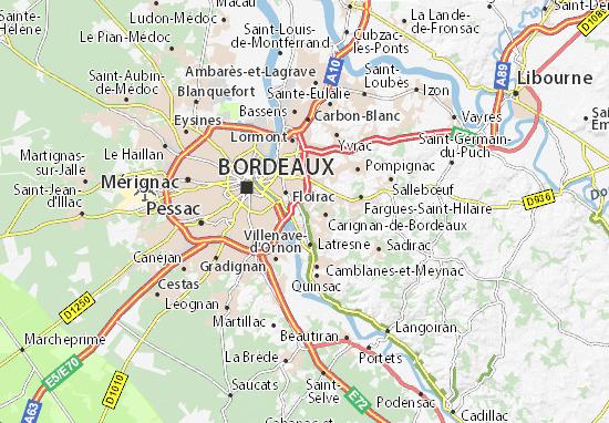 Bouliac Map