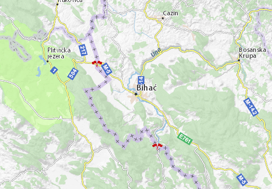Bihać Map