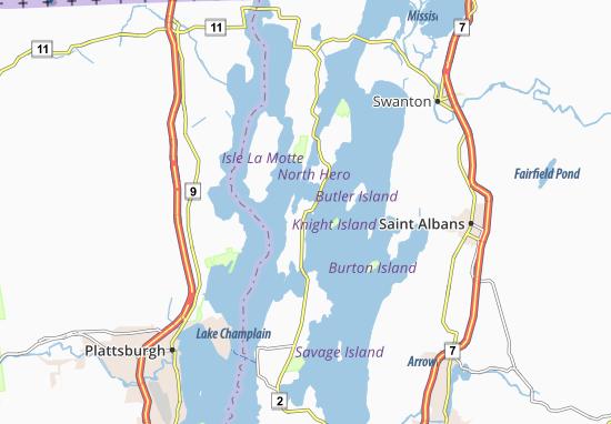 North Hero Map