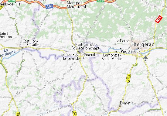 Pineuilh Map