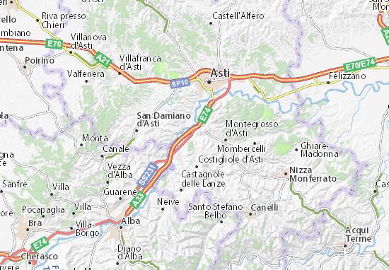 Karte Stadtplan Isola d'Asti