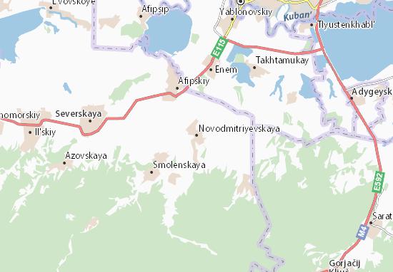 Kaart Plattegrond Novodmitriyevskaya