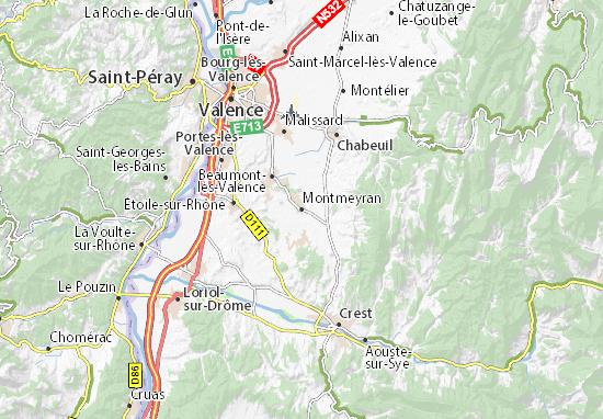 Montmeyran Map