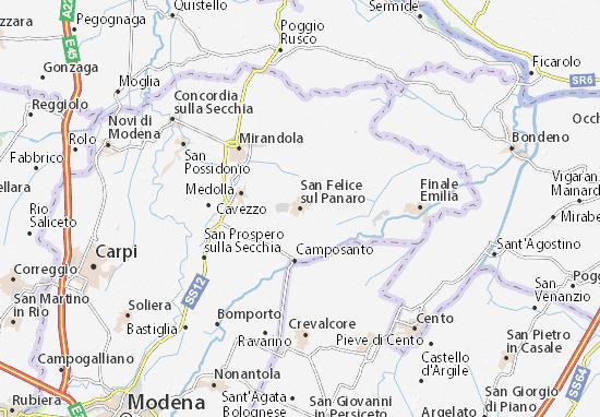 Mapas-Planos San Felice sul Panaro