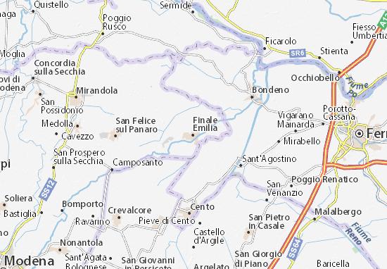 Finale Emilia Map