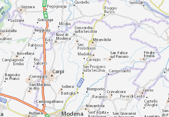 Mappe-Piantine Cavezzo