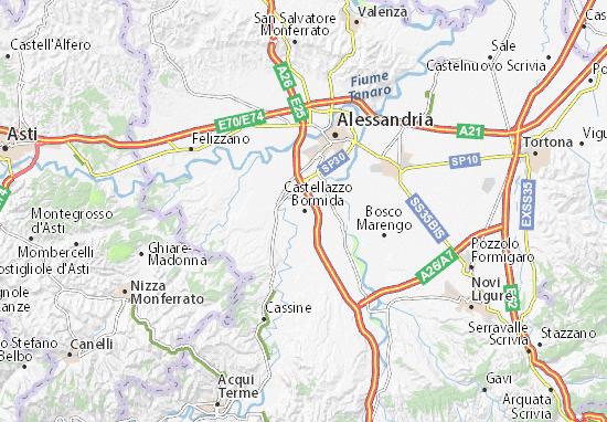 Karte Stadtplan Castellazzo Bormida