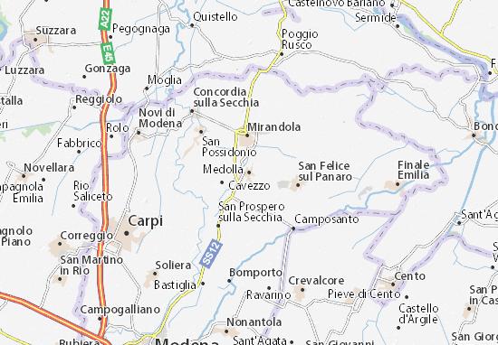 Karte Stadtplan Medolla