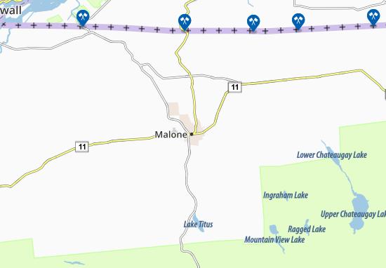 Karte Stadtplan Malone