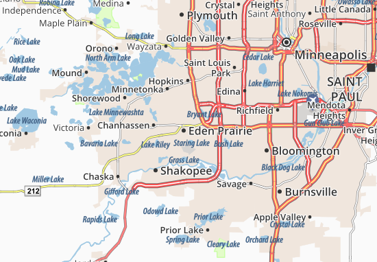 Mappe-Piantine Eden Prairie