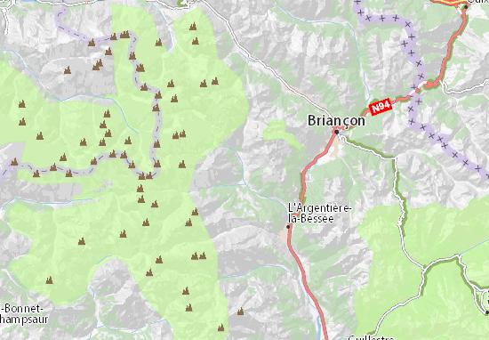 Pelvoux Map