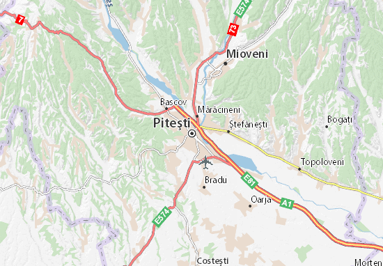 Karte Stadtplan Piteşti