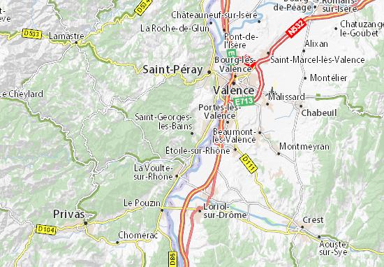 Carte-Plan Saint-Georges-les-Bains
