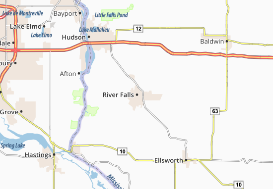 River Falls Map
