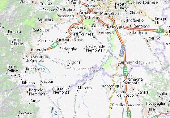Cartina Michelin Piemonte.Mappa Michelin Virle Piemonte Pinatina Di Virle Piemonte Viamichelin