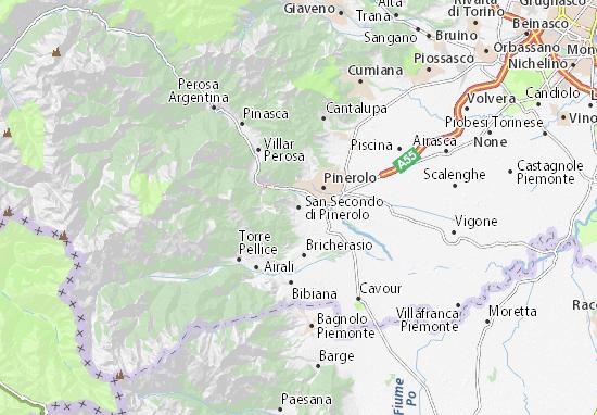 Mapas-Planos San Secondo di Pinerolo