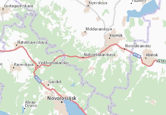 Nizhnebakanskaya Map
