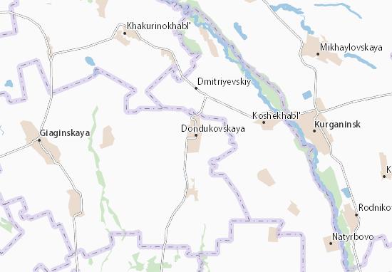 Carte-Plan Dondukovskaya
